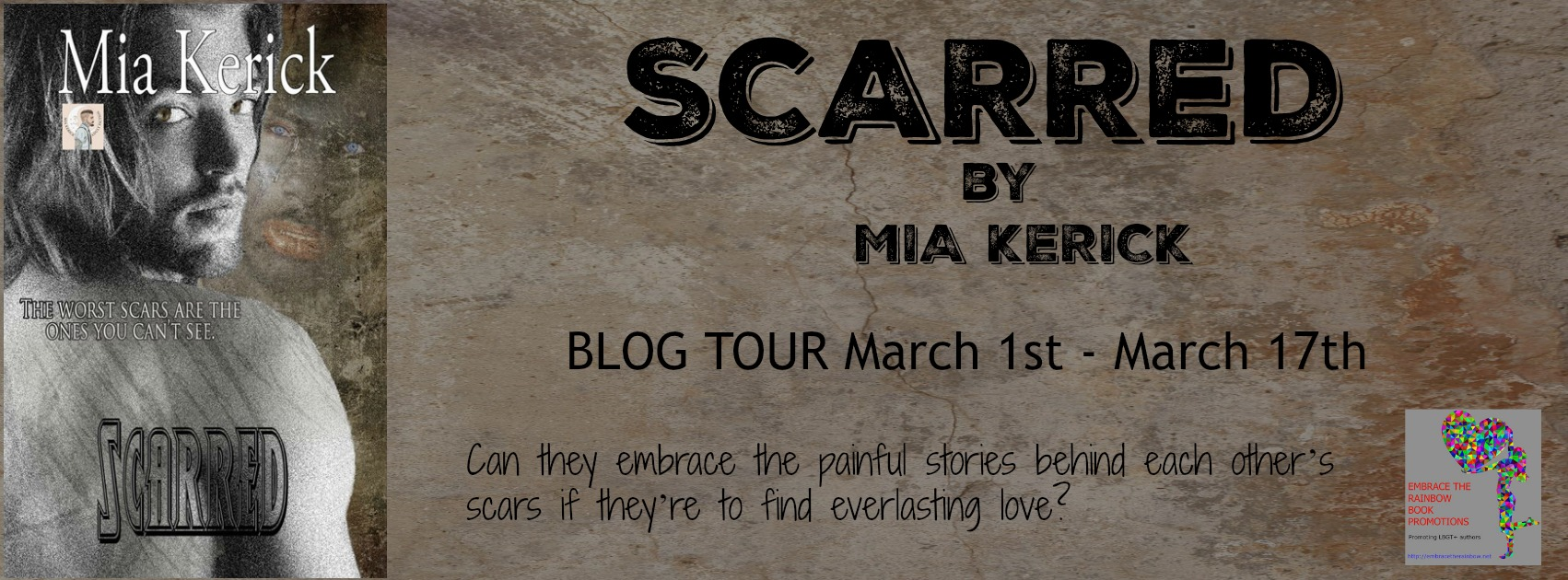 Blog Tour: Exclusive Excerpt & Giveaway Scarred by Mia Kerick